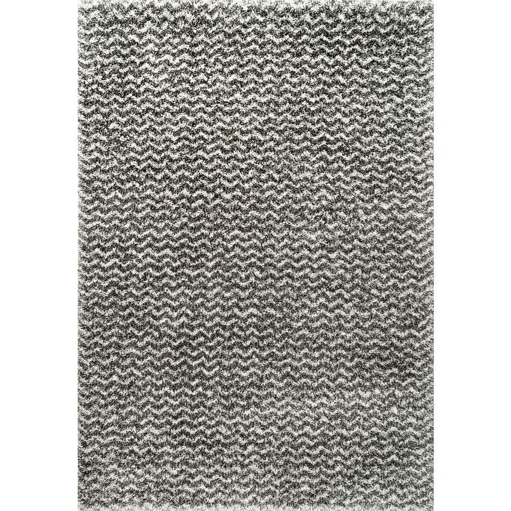 Nuloom Cuellar Chevron Shaggy Dark Grey 8 Ft X 10 Area Rug