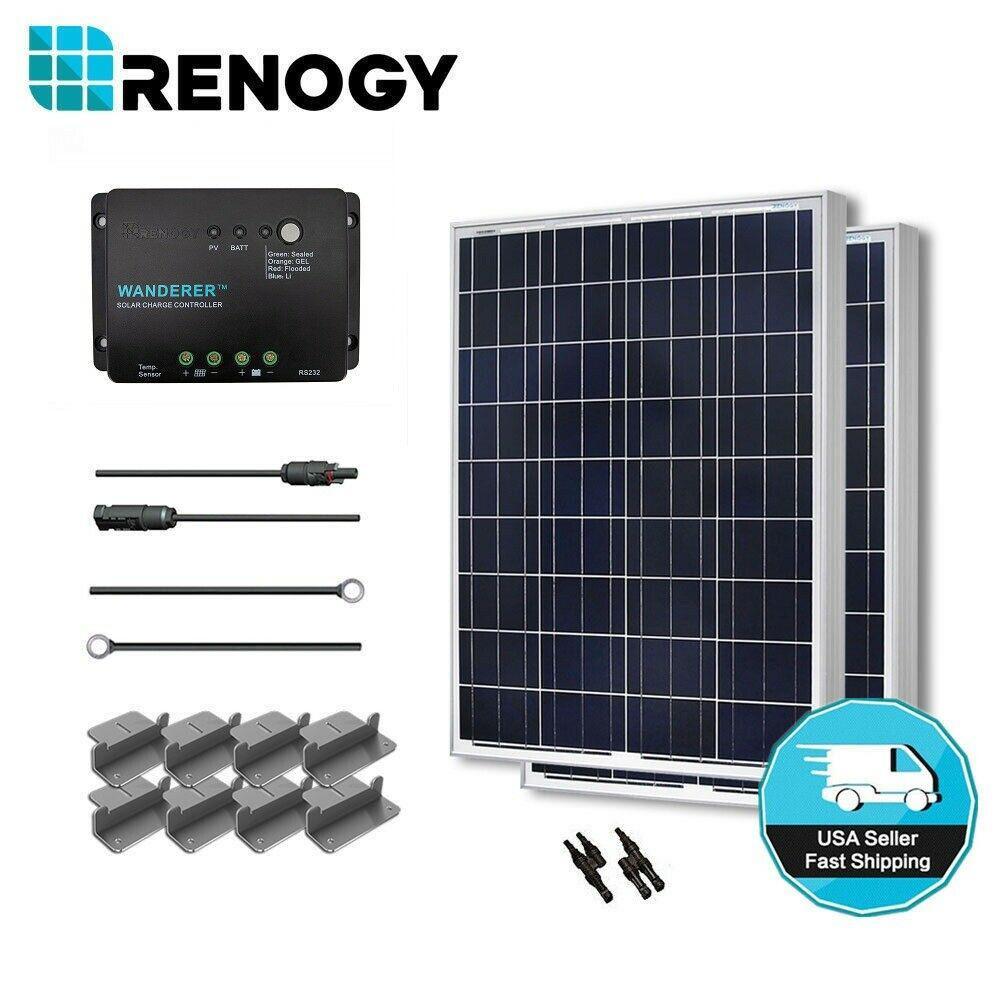 200-Watt 12-Volt Polycrystalline Solar Starter Kit for Off-Grid Solar System