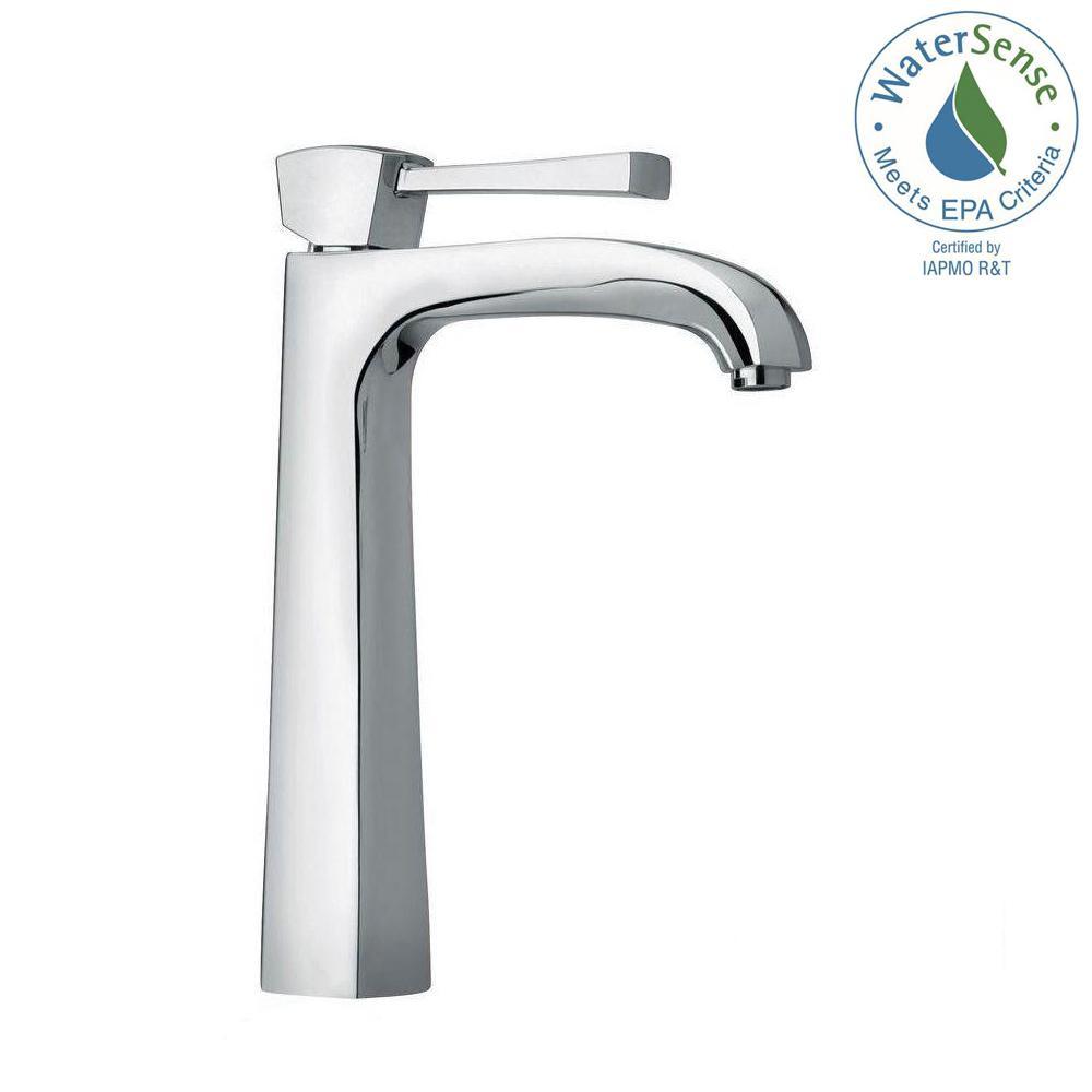 Lady Single Hole Single-Handle High-Arc Vessel Bathroom Faucet in Chrome
