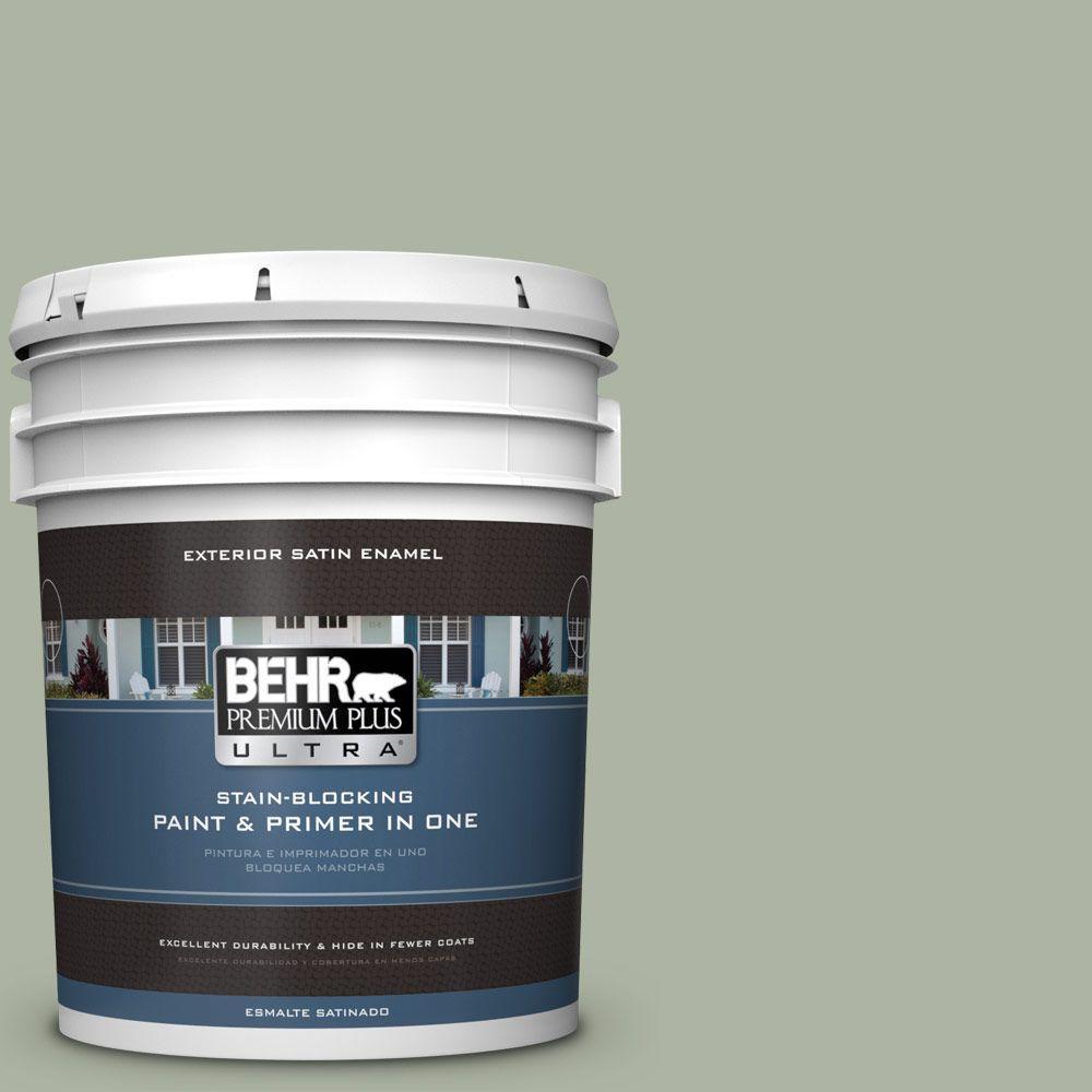 BEHR Premium Plus Ultra 5-gal. #430E-3 Laurel Mist Satin Enamel Exterior Paint
