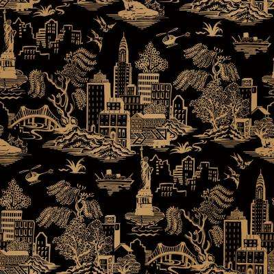 Genevieve Gorder New York Toile Self-Adhesive, Removable Wallpaper