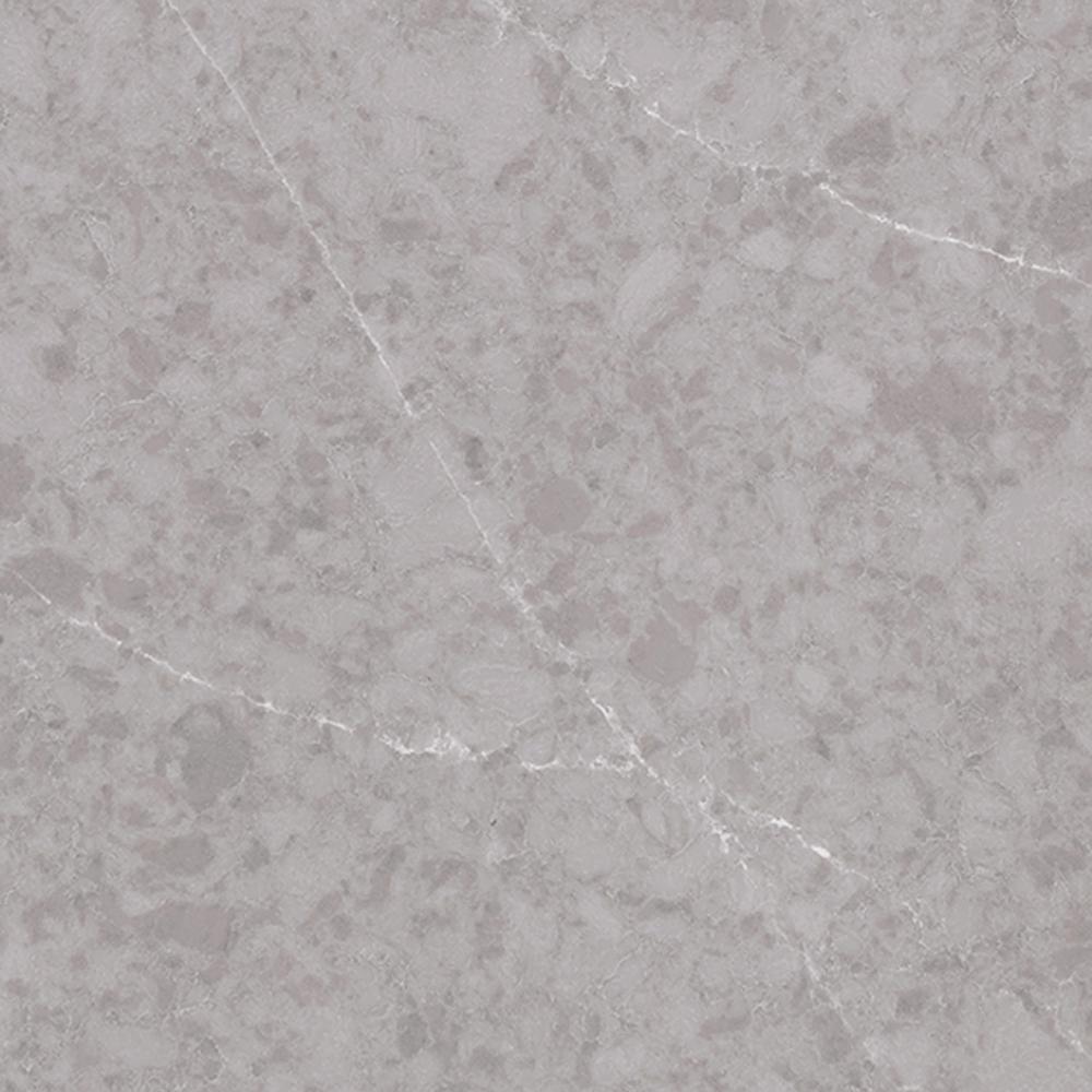 3 in. x 3 in. Quartz Countertop Sample in Seaside Gray