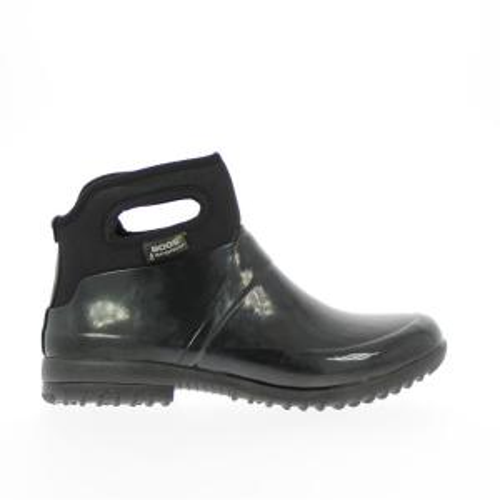 Bogs Seattle Solid Women Size 9 Black Waterproof Rubber Ankle Boot by BOGS