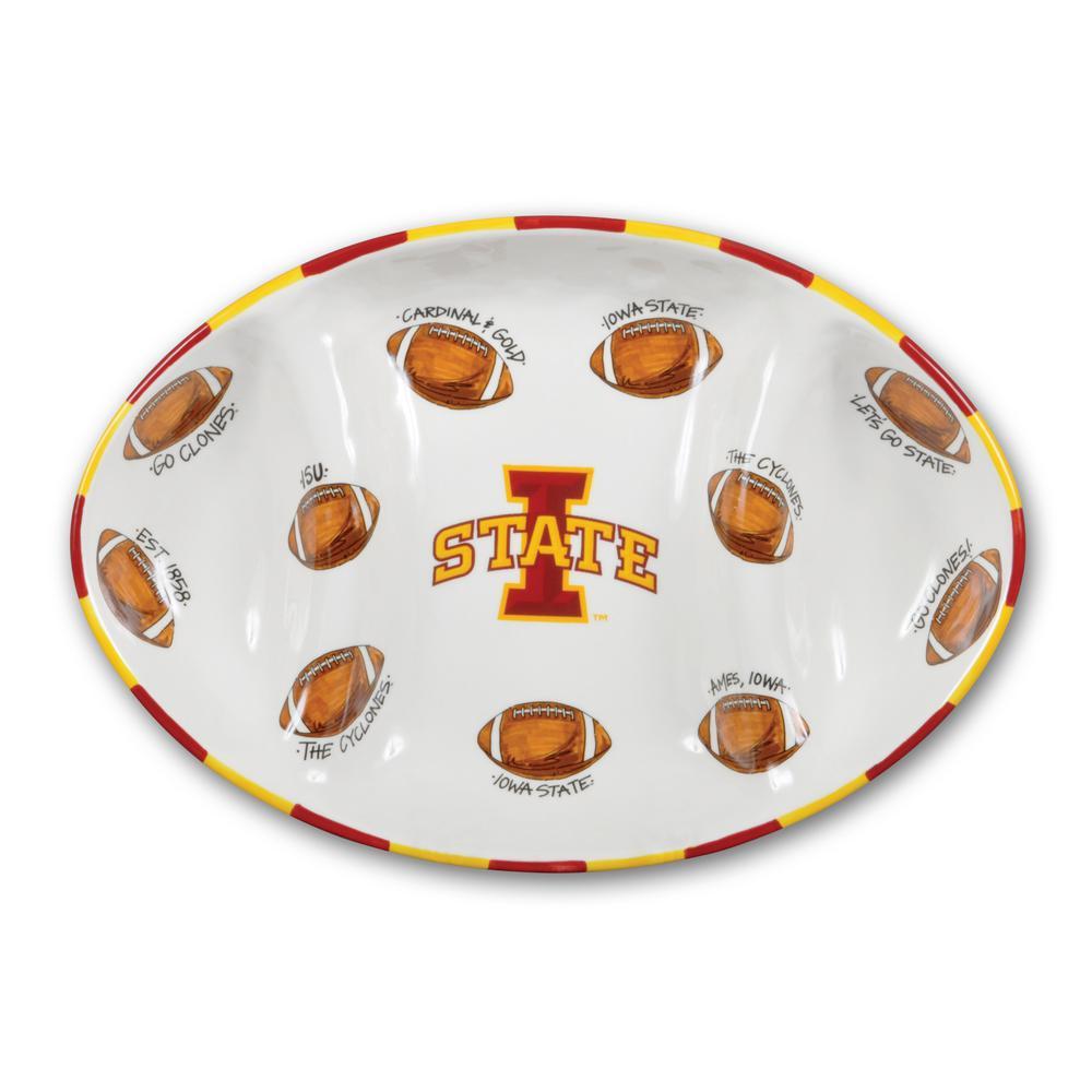 Iowa State Ceramic Football Tailgating Platter