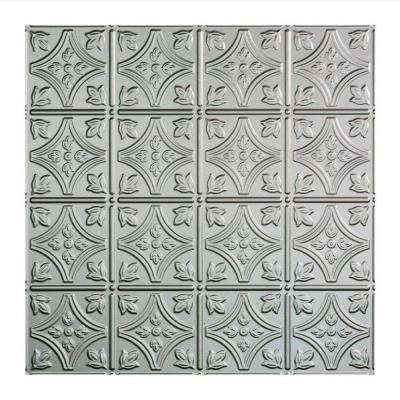 Traditional 1 - 2 ft. x 2 ft. Lay-in Ceiling Tile in Argent Silver