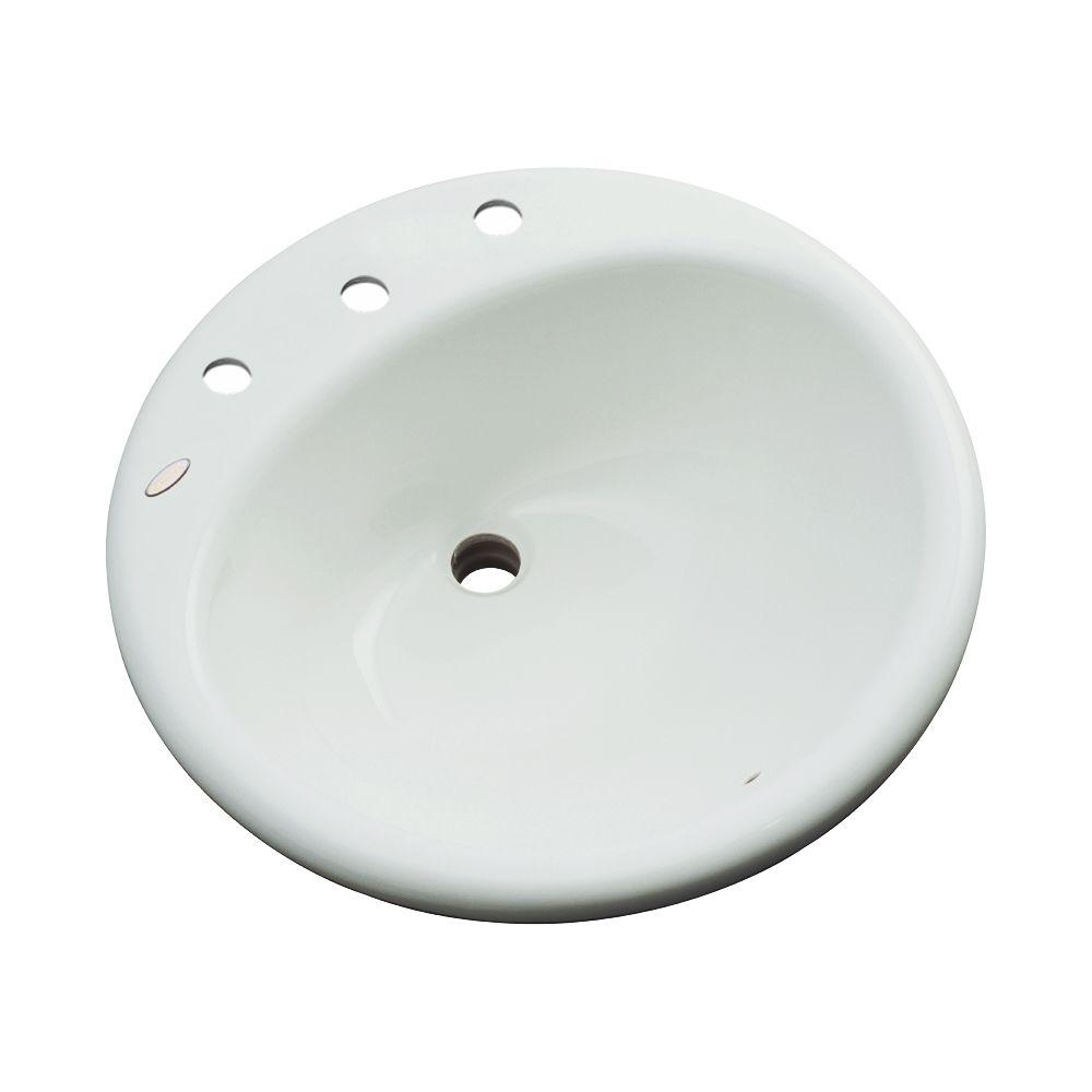 Clarington Drop-In Bathroom Sink in Ice Gray
