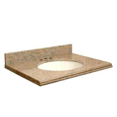 49 in. W x 22 in. D Granite Vanity Top in Giallo Veneziano with Biscuit Basin