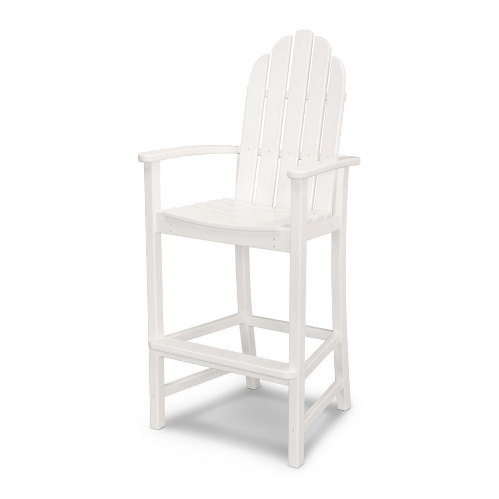 Classic White Plastic Adirondack Chair