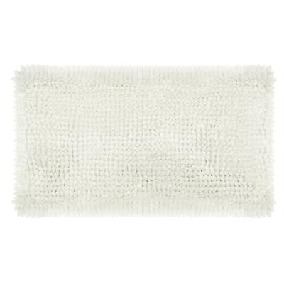 Butter Chenille 20 in. x 34 in. Bath Mat in White