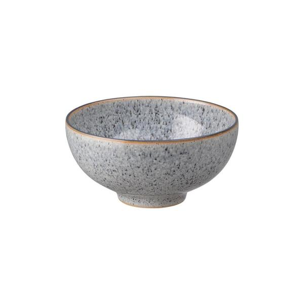 Denby Studio Grey Stoneware 16 23 Fl Oz Rice Bowl Set Of 4 Stg 209g 4 The Home Depot
