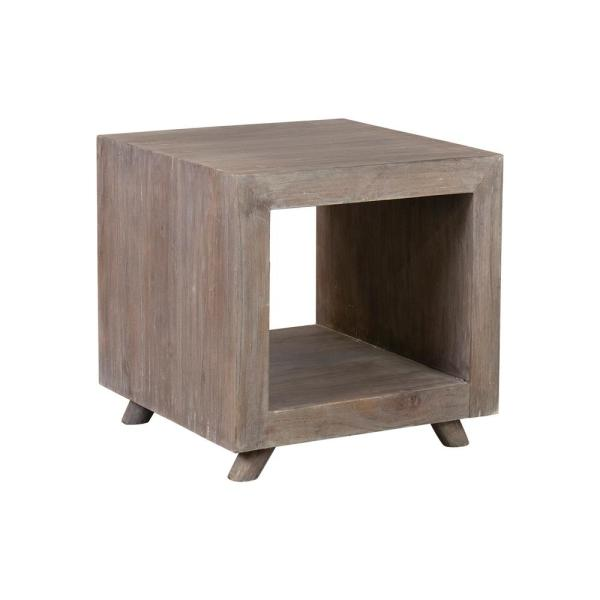 Brown Wash Kybos Cube Bedside/End Table