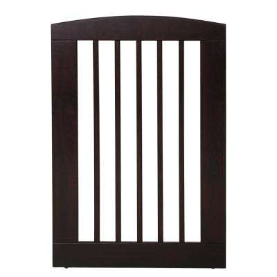 Ruffluv 36 in. H Wood Single Panel Cappuccino Pet Gate