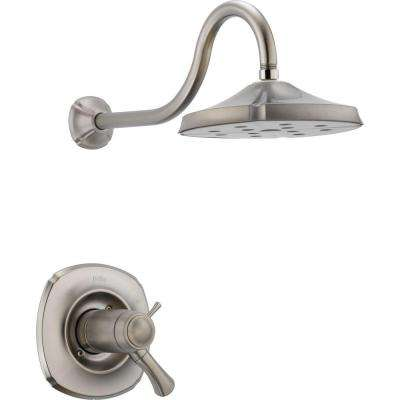 Addison TempAssure 17T Series 1-Handle Shower Faucet Trim Kit Only in Stainless (Valve Not Included)