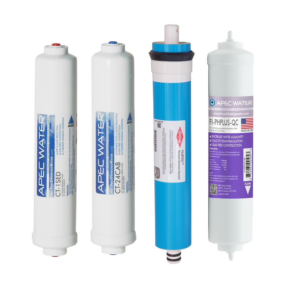 APEC Complete Filter Set for Ultimate RO-CTOP-PH Countertop RO Systems (Stages