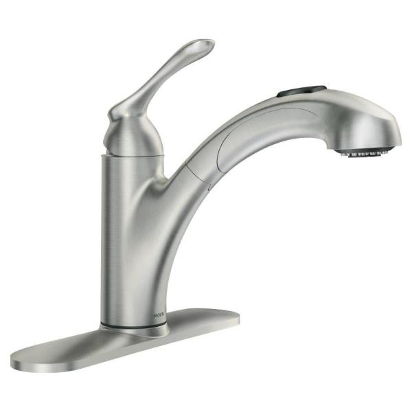 Banbury Single-Handle Pull-Out Sprayer Kitchen Faucet with Power Clean in Spot Resist Stainless