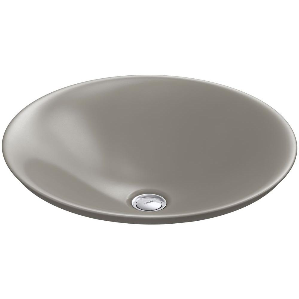 KOHLER Carillon Wading Pool Above-Counter Vitreous China Bathroom Sink in Cashmere