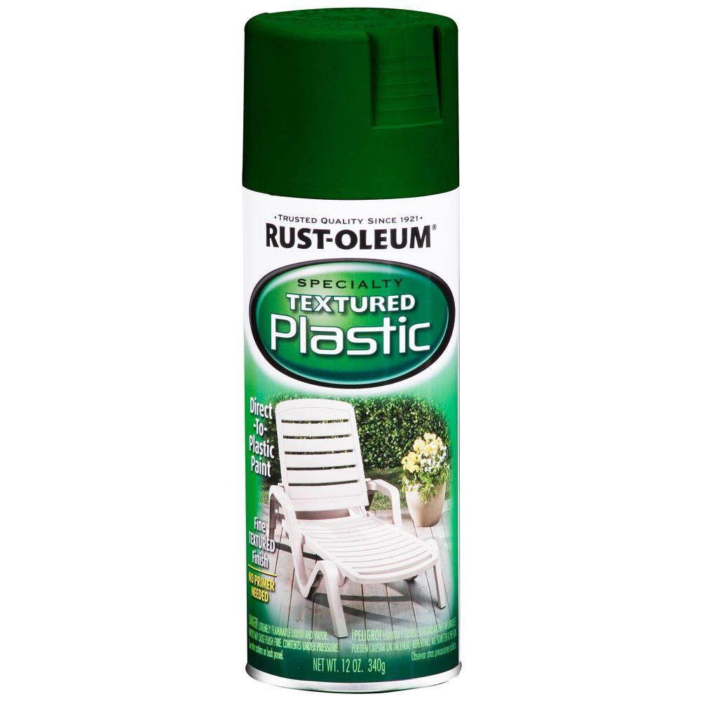 Rust-Oleum Specialty 12 oz. Forest Green Paint for Plastic Textured Spray Paint (6-Pack)