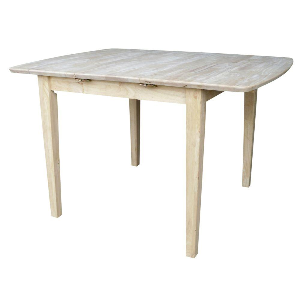International Concepts International Concepts Unfinished Shaker Leg Dining Table