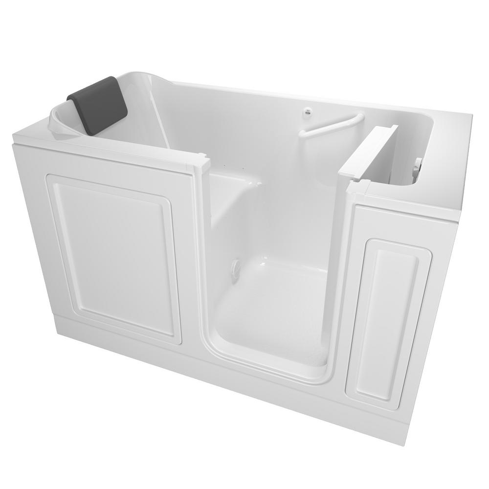 Aquatic cooper 32 5 ft left drain acrylic soaking tub in for Walk in tub water capacity