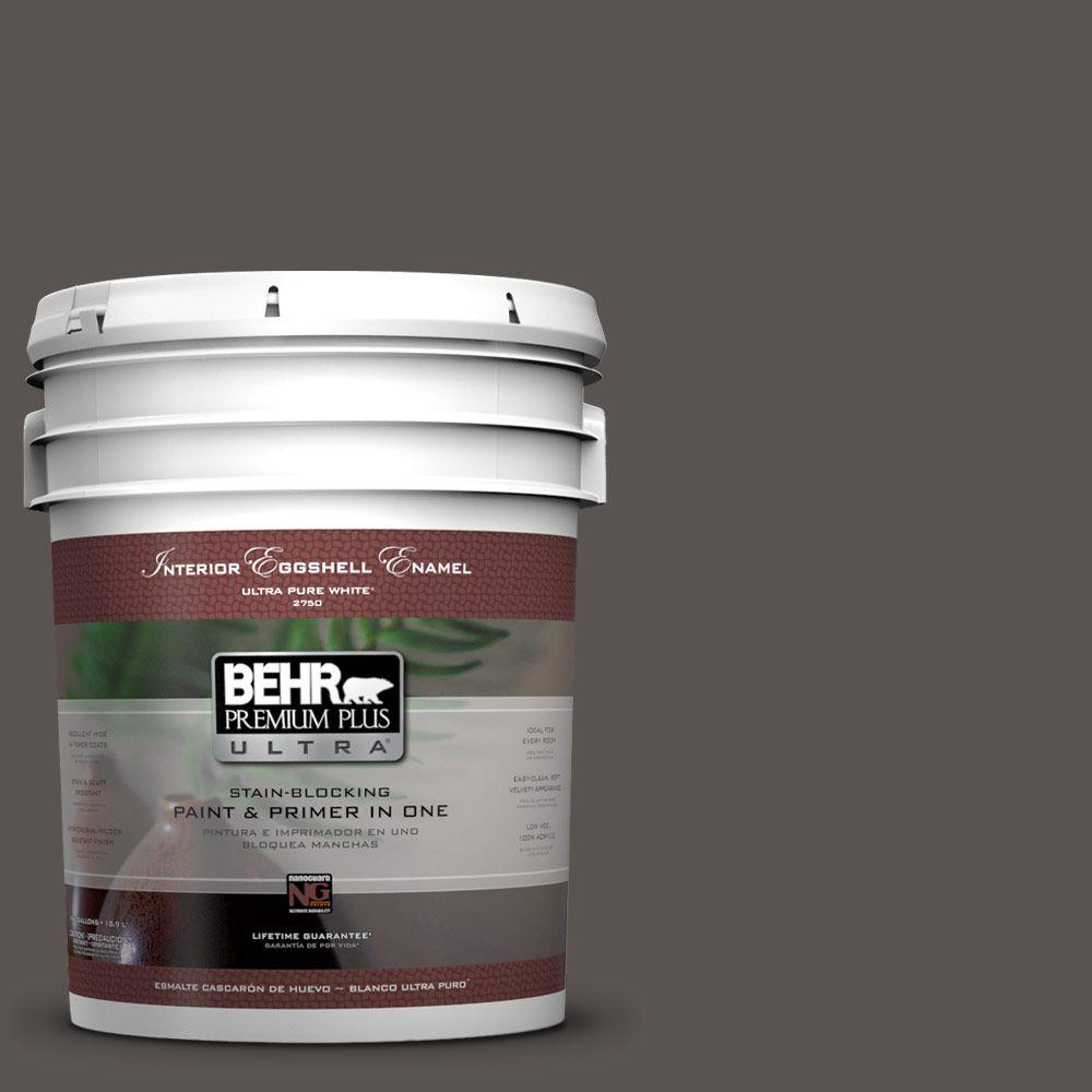 BEHR Premium Plus Ultra 5-gal. #BXC-23 Catskill Brown Eggshell Enamel Interior Paint