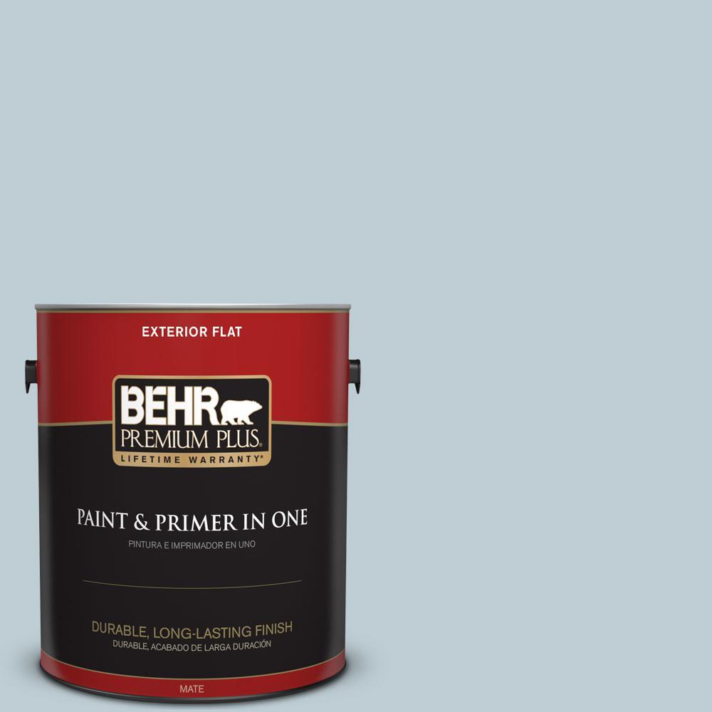 BEHR Premium Plus 1-gal. #540E-2 Cloudy Day Flat Exterior Paint