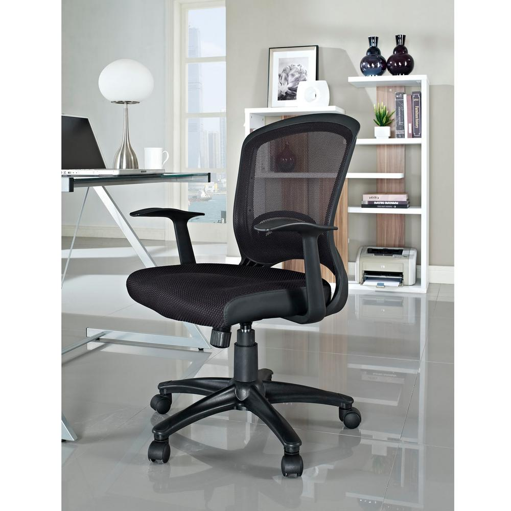 Modway Pulse Mesh Office Chair In Black