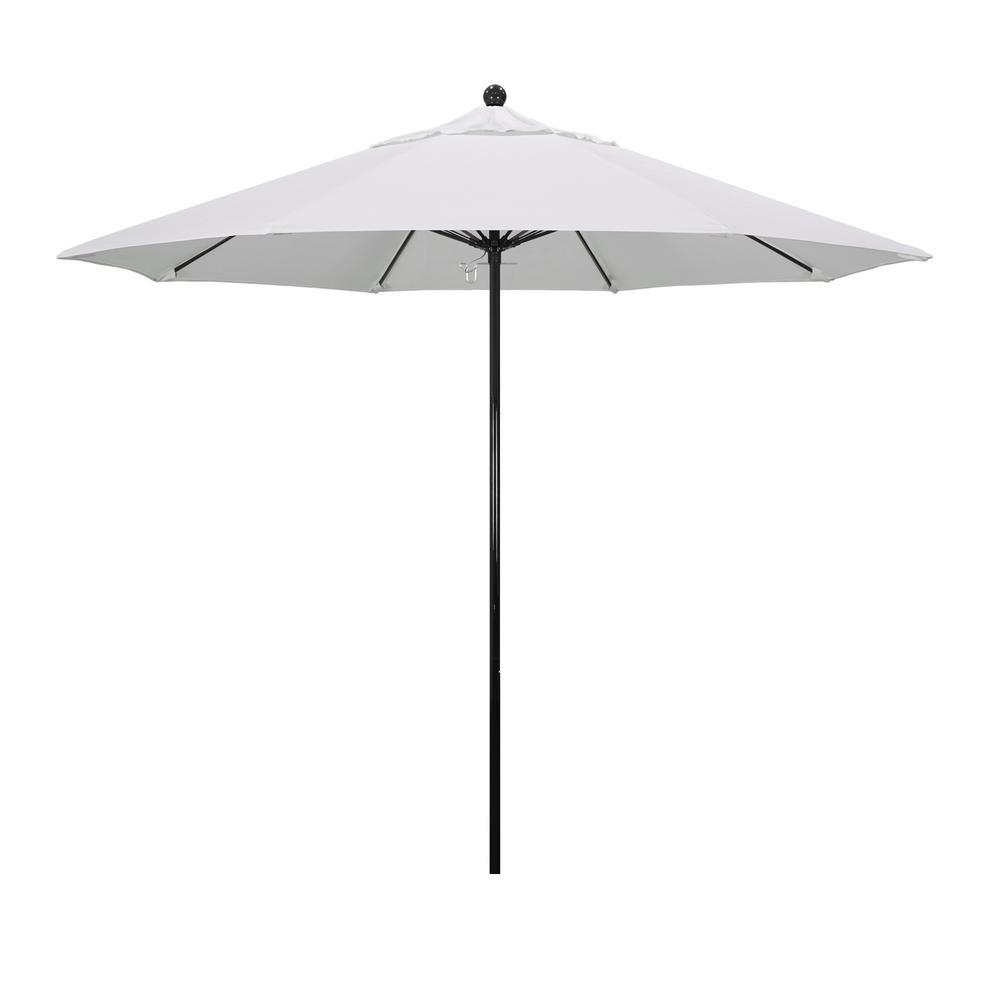 California Umbrella 9 ft. Fiberglass Market Push Lift Patio Umbrella in Natural Pacifica