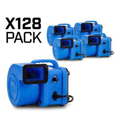 1/4 HP 375 CFM Mini Air Mover for Water Damage Restoration Carpet Dryer Floor Blower Fan, Blue (128-Pack)