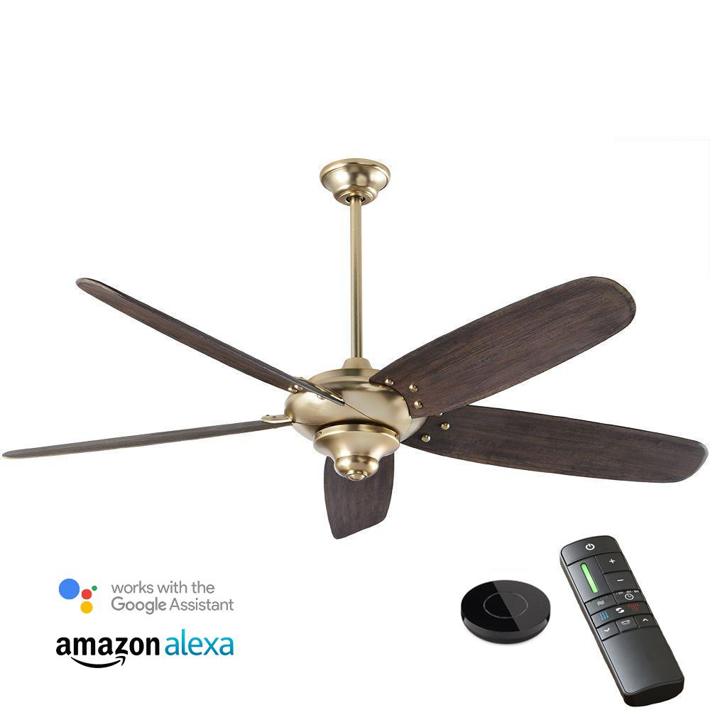 Home Decorators Collection Altura DC 68 in. Brushed Gold Ceiling Fan works with Google Assistant and Alexa