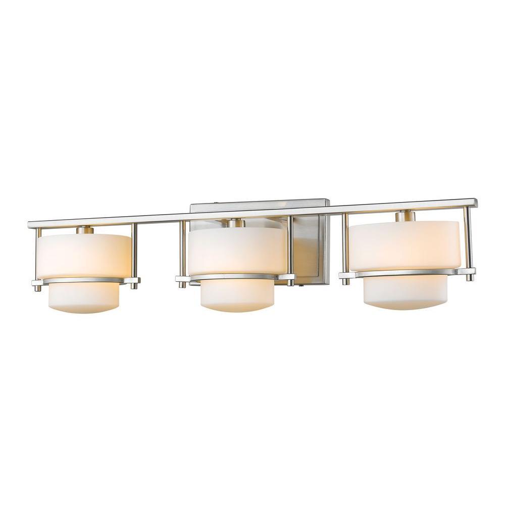 Christen 3-Light Brushed Nickel Bath Vanity Light