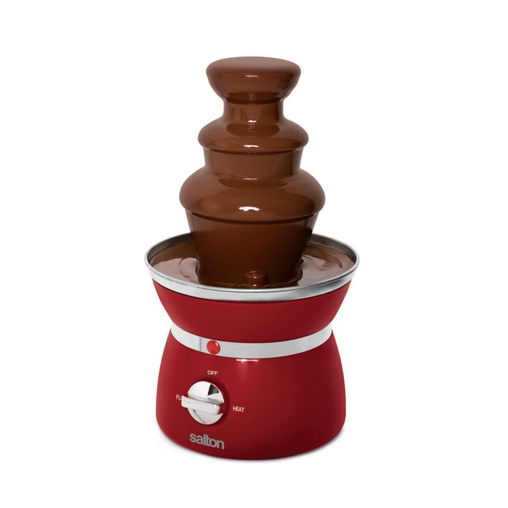 Mini 3-Tier Red Chocolate Fondue Fountain