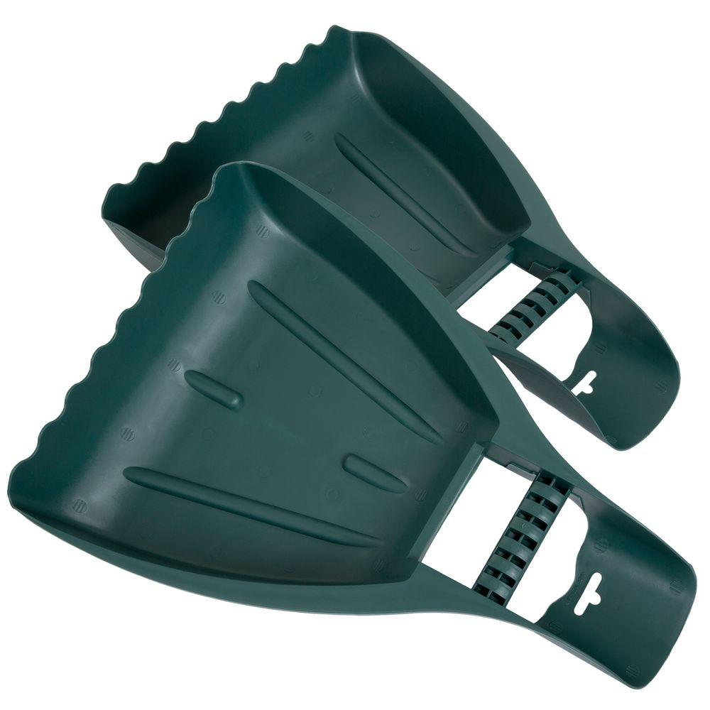 Pure Garden Gorilla Garden Hands Cut down time and ease the strain of yardwork with the Pure Garden Gorilla Garden Hands. These oversized scoops have wrist support handles and firm grips to easily scoop leaves or debris. Your hands stay clean and protected from sharp twigs, bugs and dirt.