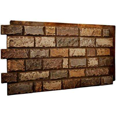 1-1/2 in. x 48 in. x 25 in. Geneva Urethane Cut Coarse Random Rock Wall Panel