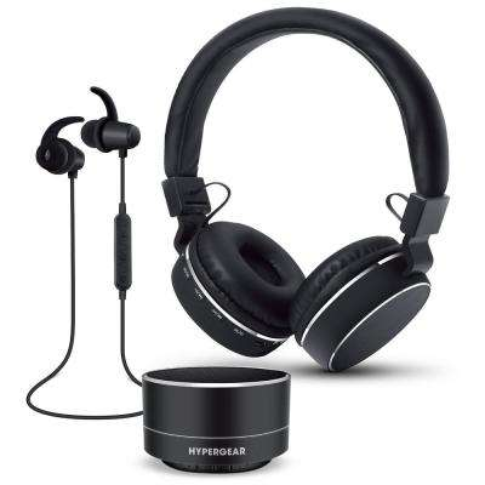 Wireless Headphone Gift Set in Black