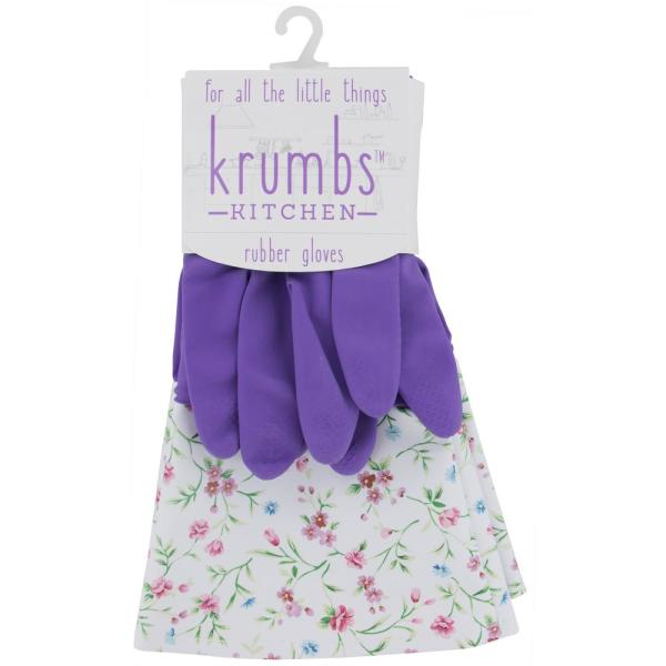 Krumbs Kitchen Rubber Cleaning Gloves, 1-Size Fits All