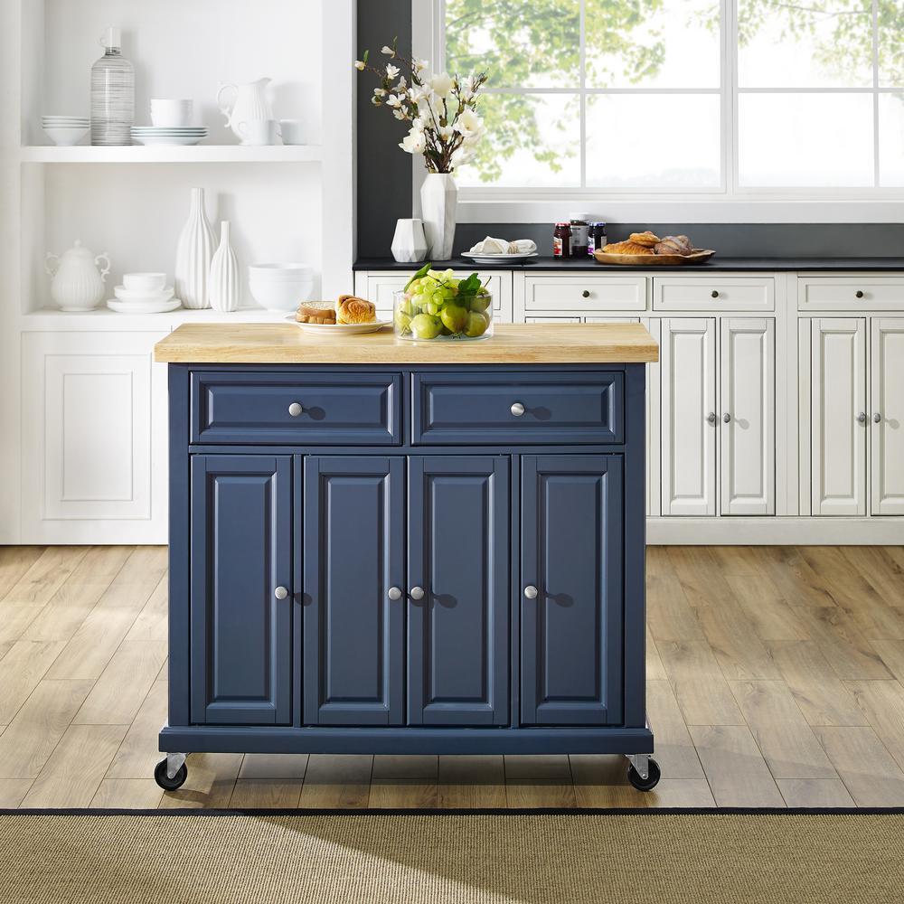 Madison Navy Kitchen Cart