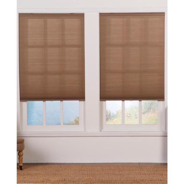 Perfect Lift Window Treatment Cut To Width Linen Cordless Light Filtering Cellular Shade 22 In W X 72 In L Qcln220720 The Home Depot