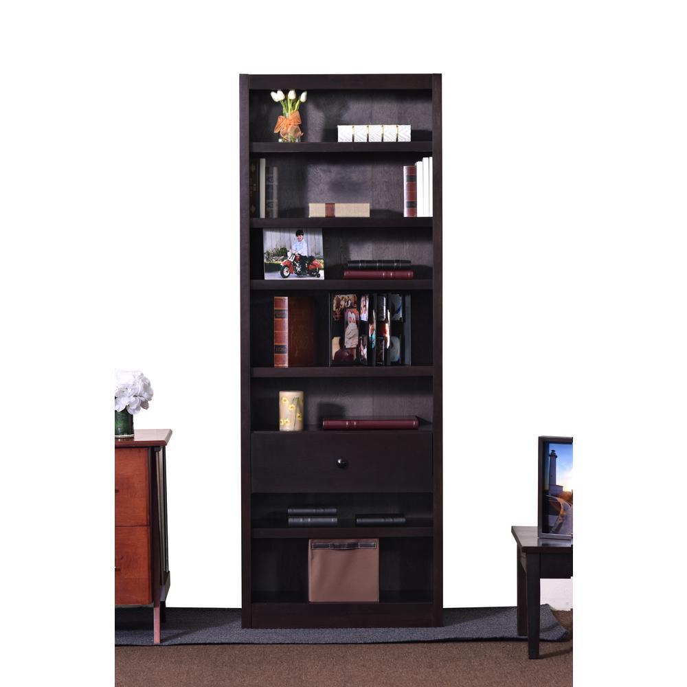 Espresso Open Bookcase