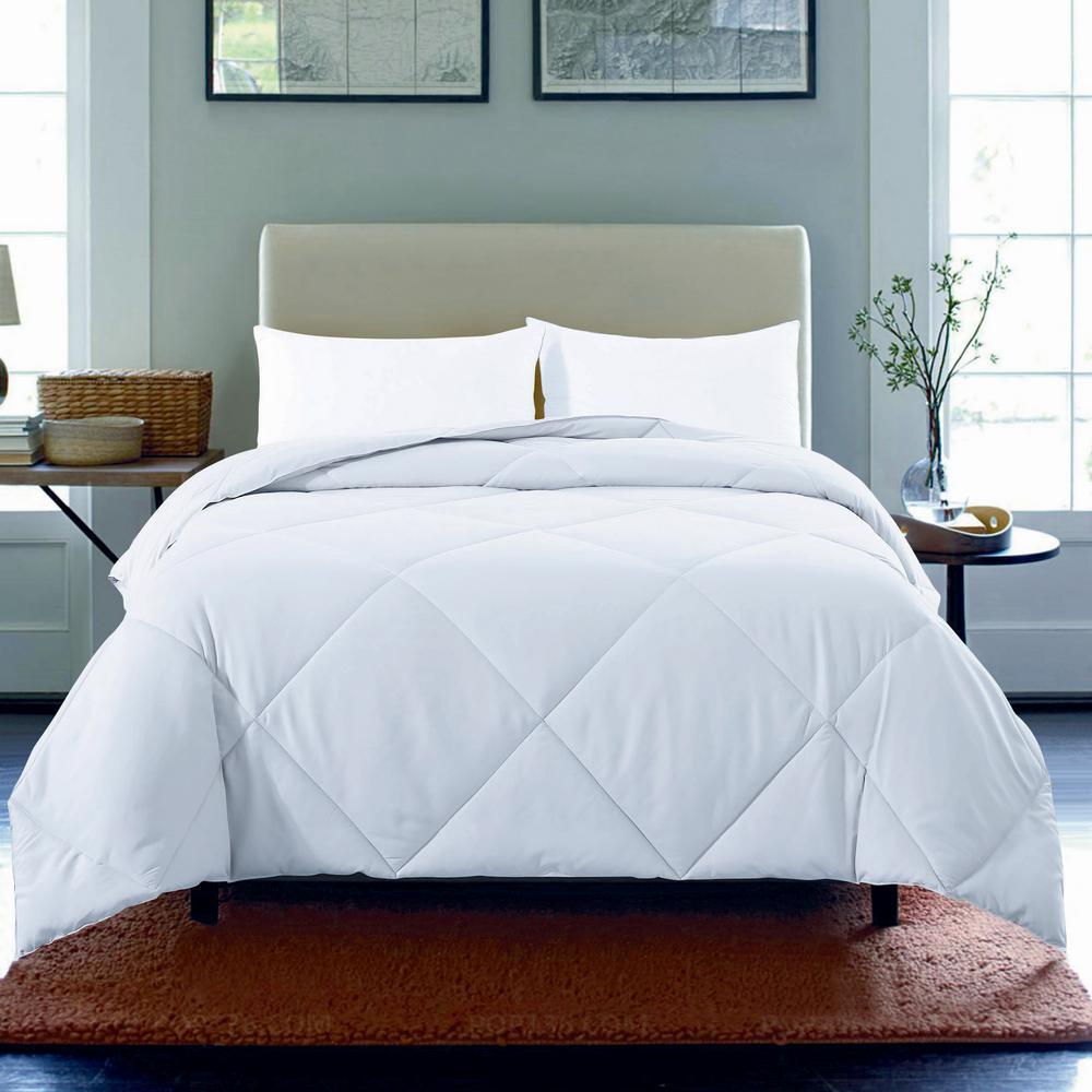 Microfiber Nano Twin White Comforter