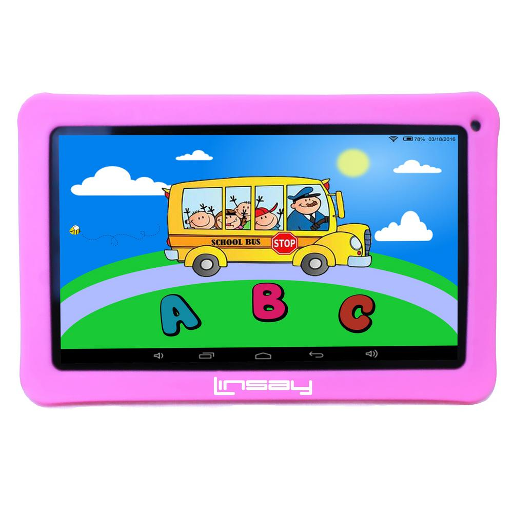 LINSAY 10.1 in. 2GB RAM 16GB Android 9.0 Pie Quad Core Tablet with Pink Kids Defender Case was $159.99 now $79.99 (50.0% off)