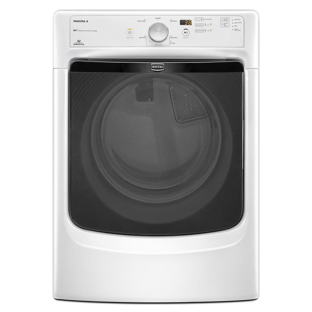 Maytag Maxima X 7.4 cu. ft. Gas Dryer in White-DISCONTINUED