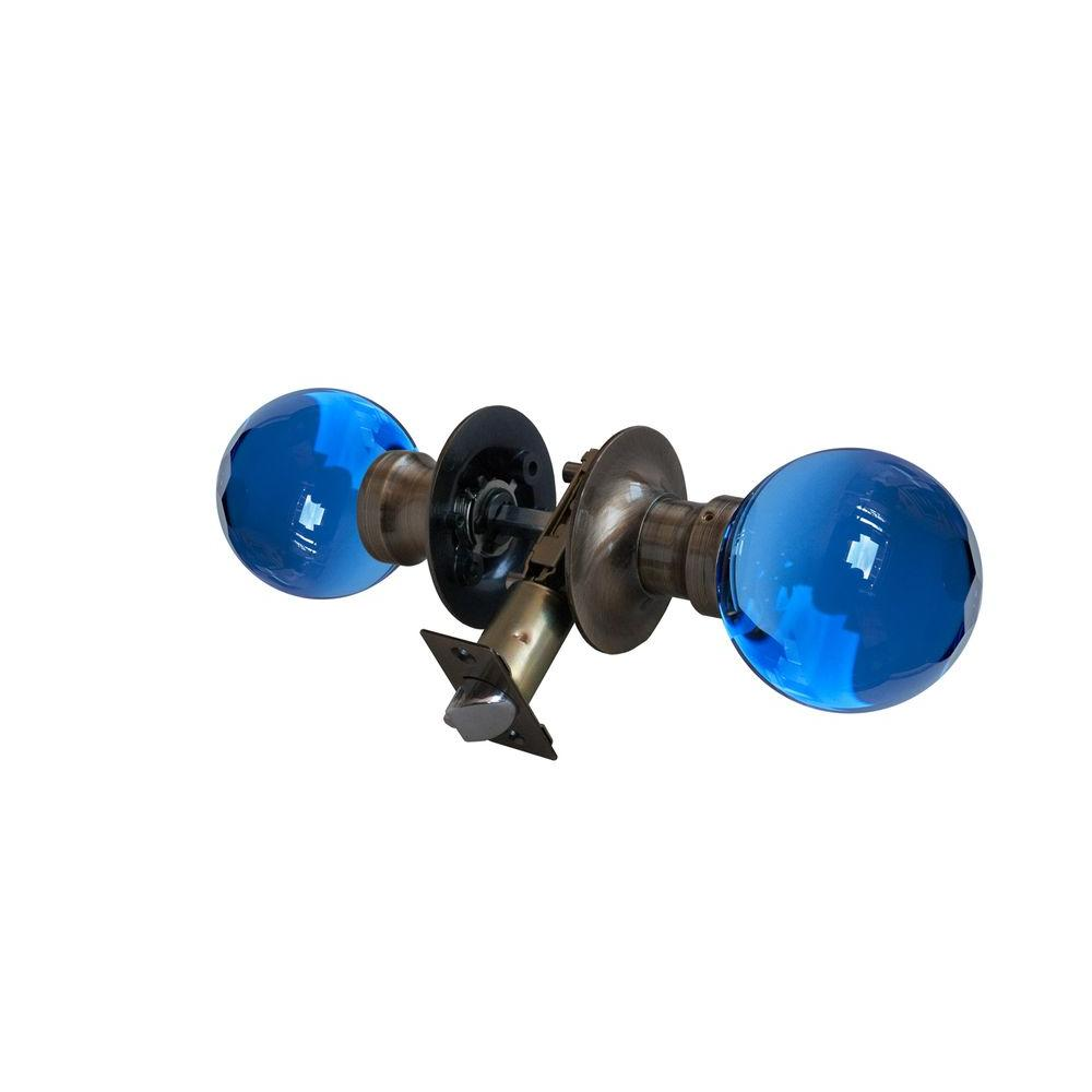Krystal Touch Of Ny Sapphire Crystal Antique Brass Passive