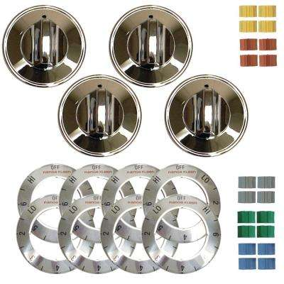 Electric Replacement Knob in Chrome (4-Pack)