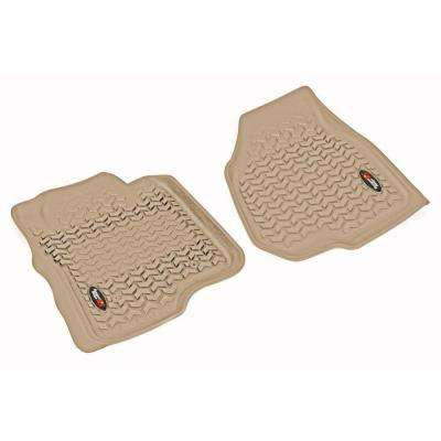Floor Liner Front Pair Tan 2011-2012 Ford F250/350 Depressed Pedal