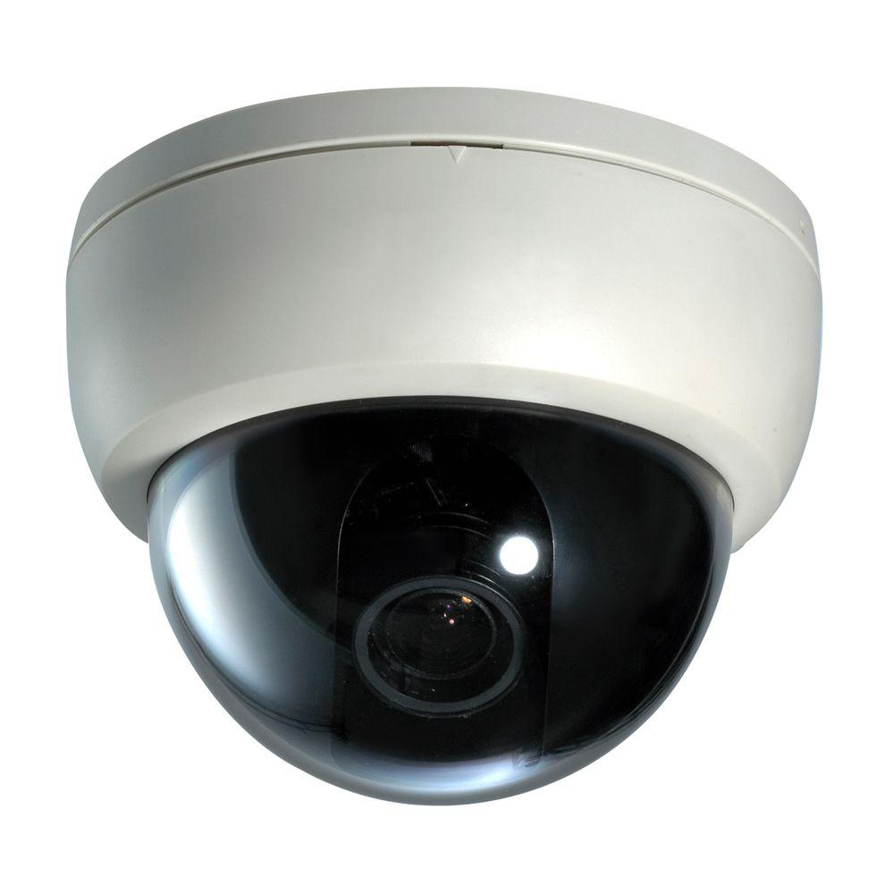 Exterior Home Security Cameras: SeqCam Wired Plastic Dome Indoor/Outdoor Color Security