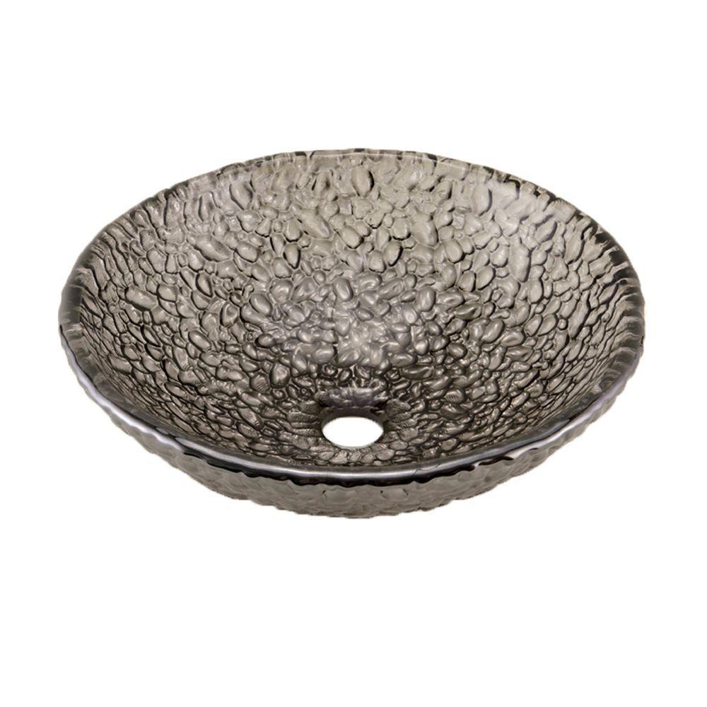 Pebble Vessel Sink in Black Nickel