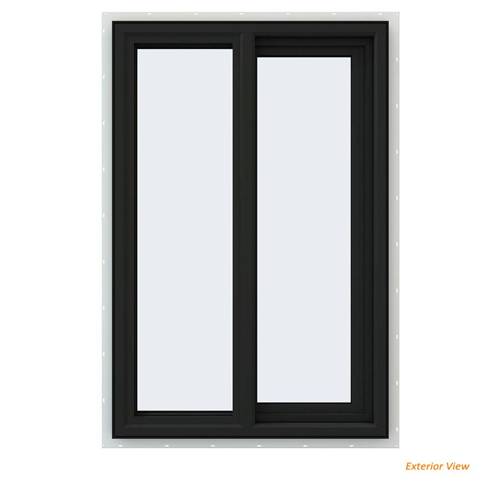 home depot sliding windows replacement jeldwen 235 in 355 v4500 series bronze painted vinyl