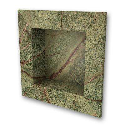 17 in. x 17 in. Square Recessed Shampoo Caddy in Rainforest