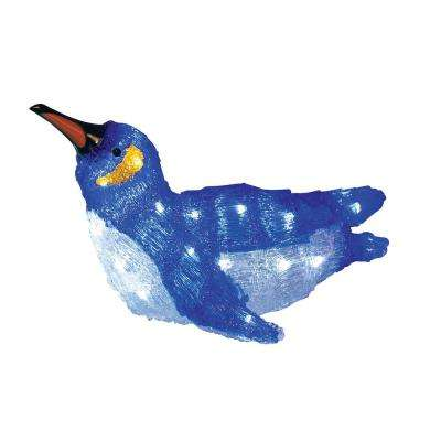 9 in. Christmas Display Decoration Lighted Commercial Grade Acrylic Gliding Baby Penguin