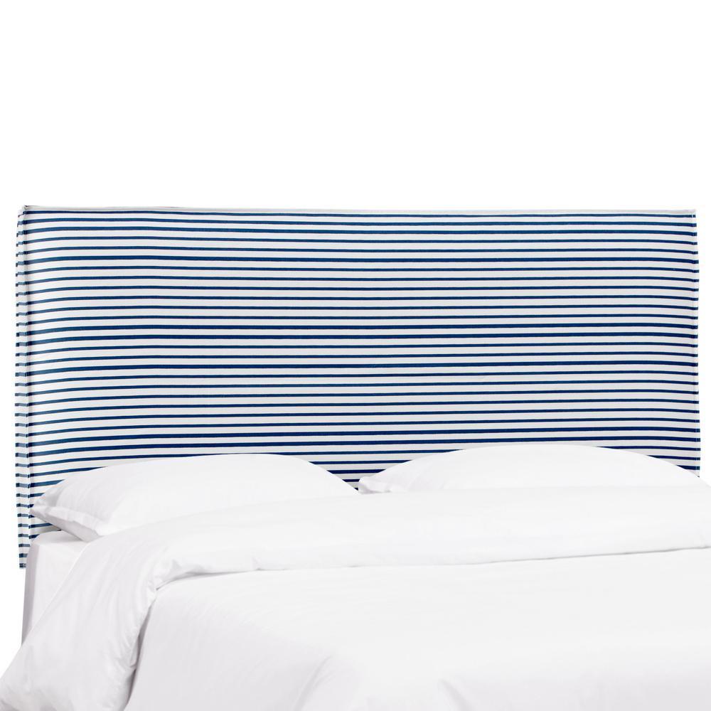 Skyline Furniture Mallory Nautical Stripe Navy King French